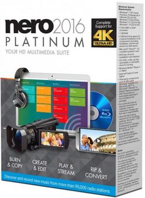 Nero 2016 Platinum 17.0.02000 Retail + ContentPack (2015) MULTi / Русский