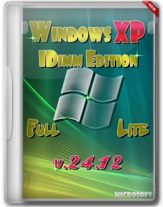 Windows XP SP3 IDimm Edition Full/Lite 24.12 RUS (VLK) (2012) Русский