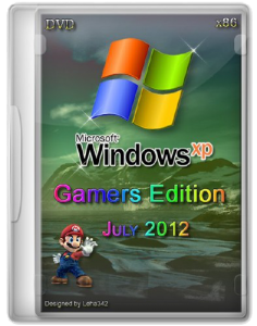 Windows Xp Pro SP3 Gamers Edition DVD July 2012 (July 2012) (x86) (2012) Русский + Английский