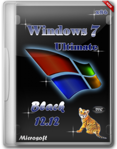 Windows 7 Ultimate x86 SP1 Black by OVGorskiy® 12.12 (2012) Русский