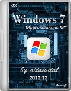 Windows 7 x86 Максимальная SP1 by altaivital 2012.12 (2012) Русский