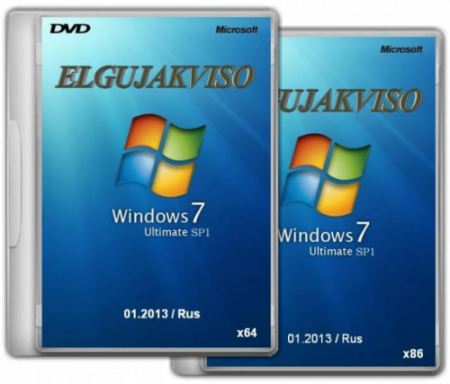 Windows 7 Ultimate SP1 Elgujakviso Edition (32bit+64bit) (2013) Русский