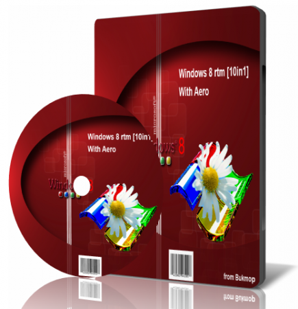 Windows 8 RTM With Aero (10in1) (x86-x64) Bukmop (2013) Русский