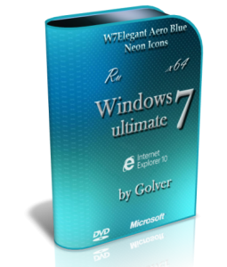 Windows 7 Ultimate SP1 AeroBlue by Golver [x64] (2013) Русский
