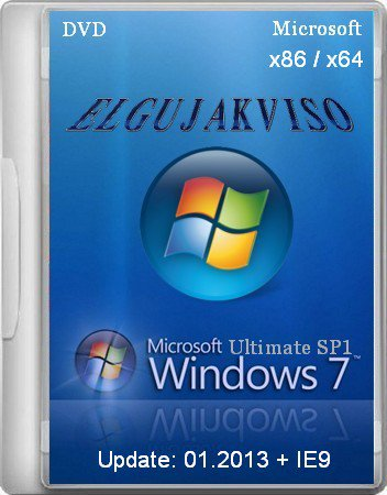 Windows 7 Ultimate SP1 Elgujakviso Edition (02.2013) (x86+x64) [2013] Русский