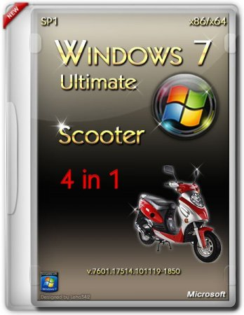 Windows 7 Ultimate SP1 Scooter x86/x64 (2013) ������� + ����������