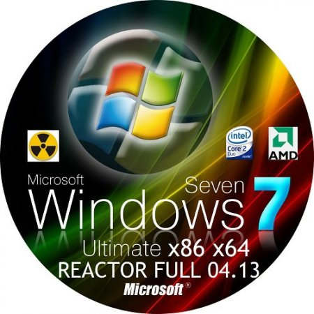 WINDOWS 7 ULTIMATE x86 x64 REACTOR FULL 04.13 (2013) Русский