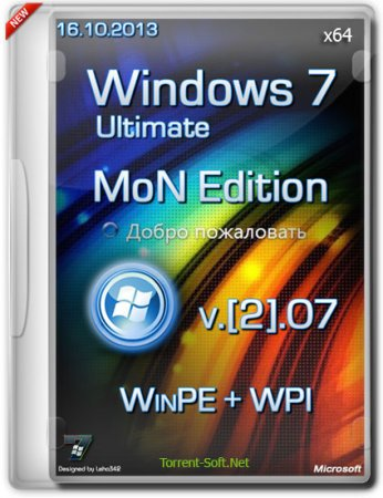 Windows 7 SP1 x64 Ultimate MoN Edition [2].07+WinPE+WPI (16.10.2013) Русский