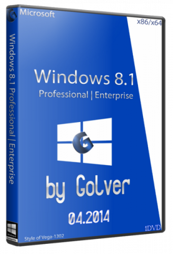 Windows 8.1 with Update 4 in 1 STR by Golver x32/x64 bit 1DVD (04.2014) Русский