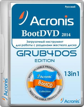 Acronis BootDVD 2014 Grub4Dos Edition v.21 13in1 (2014) Русский