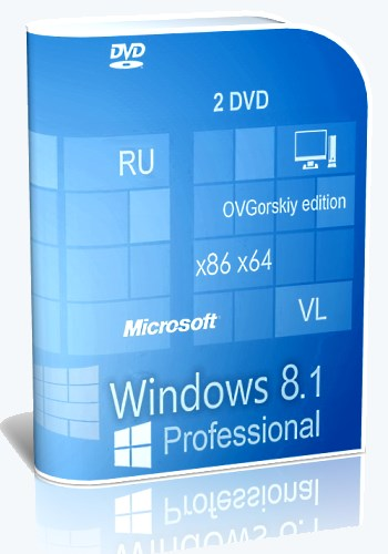 Windows® 8.1 Professional VL with Update by OVGorskiy® 10.2014 2DVD (x86/x64) (2014) Русский