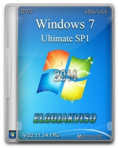 Windows 7 Ultimate SP1 Elgujakviso Edition v02.11.14 (x86/x64) (2014) Русский