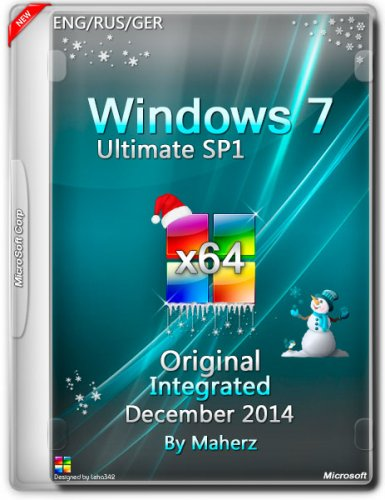 Windows 7 Ultimate SP1 Integrated December By Maherz v.7601 (x64) (2014) ENG/RUS/GER