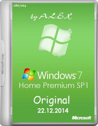 Windows 7 Home Premium SP1 Original by -A.L.E.X.- (x86/x64) (2014) RUS/ENG