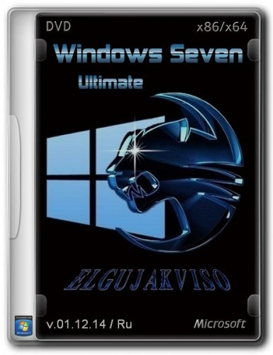 Windows 7 Ultimate SP1 Edition (2in1) by Elgujakviso v.01.12.14 (x86/x64) (2014) Русский