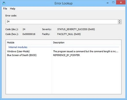 Error Lookup 2.0.5 [x64] (2015) Portable