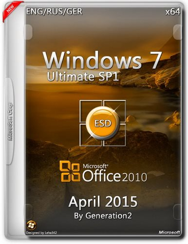 Windows 7 Ultimate SP1 x64 +Office2010 SP2 ESD April (2015) (ENG/RUS/GER)