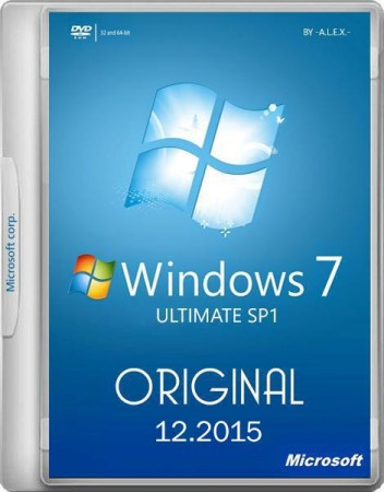 Windows 7 Ultimate SP1 Original 25.12.2015 -A.L.E.X.- (x86/x64) (2015)Русский / Английский