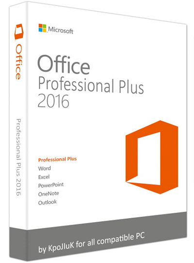 Microsoft Office 2016 Professional Plus + Visio Pro + Project Pro 16.0.4549.1000 RePack by KpoJIuK (2017.11)