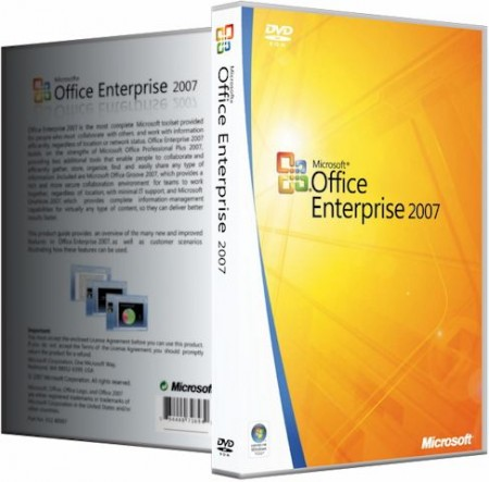 Microsoft Office 2007 Enterprise + Visio Premium + Project Pro + SharePoint Designer SP3 12.0.6759.5000 RePack by SPecialiST v16.11 (2016) Русский
