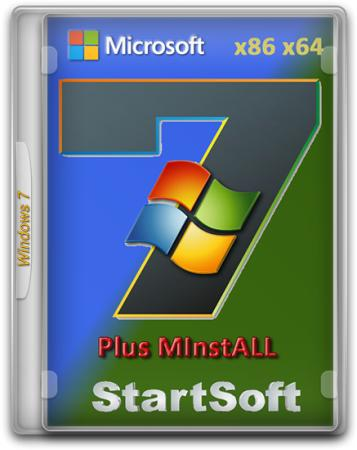 Windows 7 Ultimate SP1 x86/x64 Plus MInstAll StartSoft 24-2016 (2016) Русский