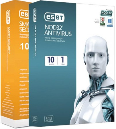 ESET NOD32 Antivirus / Smart Security 10.0.390.0 (2017) RePack by KpoJIuK