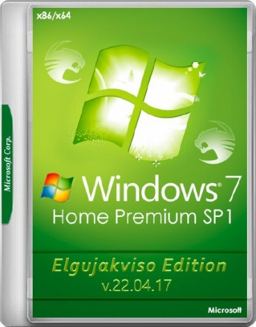 Windows 7 Home Premium SP1 (x86/x64) Elgujakviso Edition v.22.04.17 (2017) Русский
